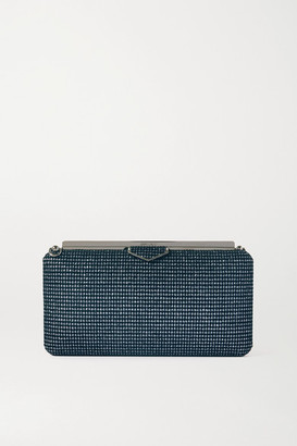 Jimmy Choo Ellipse Glittered Velvet Clutch