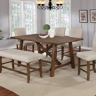 Gracie Oaks Cleitus Counter Height Solid Wood Dining Table Gracie Oaks