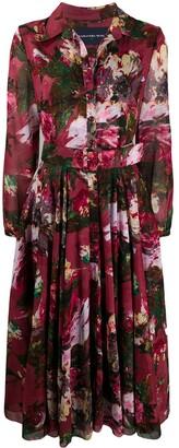 Samantha Sung Aster floral-print dress