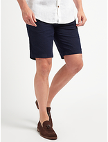 John Lewis Cotton Dobby Smarter Chino Shorts, Navy