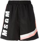 MSGM logo shorts - women - Polyamide/Polyester - 40
