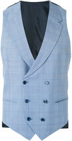 Caruso grid waistcoat - men - Silk/Cotton/Cupro/Wool - 46