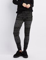 Charlotte Russe Tribal Patterned Jogger Pants