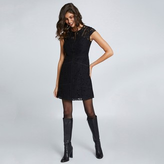 Morgan Short Lace Dress with Short Sleeves
