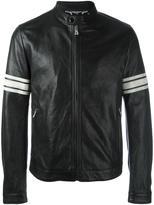 Dolce & Gabbana striped sleeve bomber jacket - men - Lamb Skin/Calf Leather/Polyester/Cotton - 46