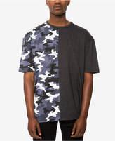 Jaywalker Men's Spliced Oversized T-Shirt, Created for Macys