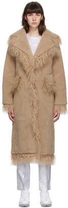 Saks Potts Brown Shearling Jimy Coat