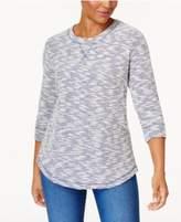 Karen Scott Marled Sweatshirt, Created for Macy's