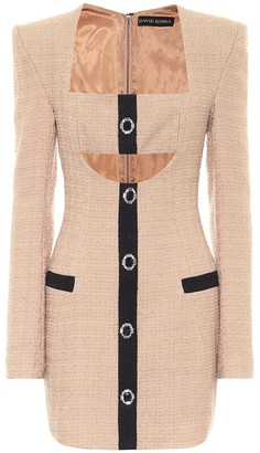 David Koma Boucle wool minidress