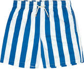 Solid & Striped The Classic Las Brusas Blue and White Stripe Swim Shorts