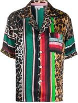 Pierre Louis Mascia mixed print shirt