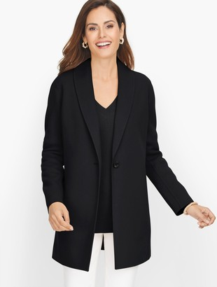 Talbots Shawl Collar Double Face Blazer
