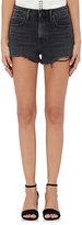 Denim x Alexander Wang Women's Bite Cotton-Blend Shorts-GREY