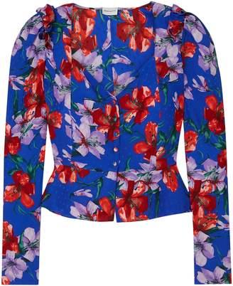 Magda Butrym Evora Floral-print Silk-satin Blouse