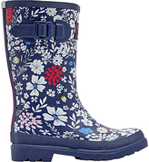 Joules Little Joule Children's Ria Ditsy Floral Wellington Boots, Navy/White