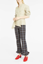 Awake Jellycheck Frilled-Hem Trousers