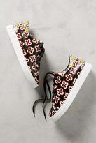 Lola Cruz Floral Leather Sneakers