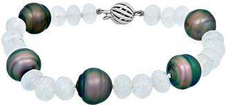 Assael Tahitian 18K 50.40 Ct. Tw. Moonstone & Tahitian Pearl Bracelet