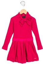 Lili Gaufrette Girls' Bow-Accented Pleated Dress