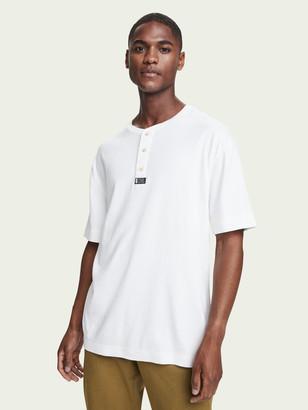 Scotch & Soda 100% cotton short sleeve grandad t-shirt | Men