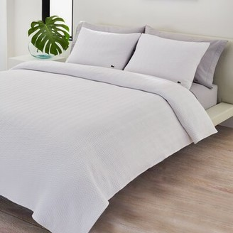 Lacoste Coverlet Sham Color: White, Size: Standard