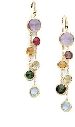 Marco Bicego Jaipur Semi-Precious Multi-Stone & 18K Yellow Gold Drop Two-Strand Drop Earrings