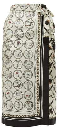 Max Mara S Netto Silk Wrap Skirt - Womens - Ivory Multi