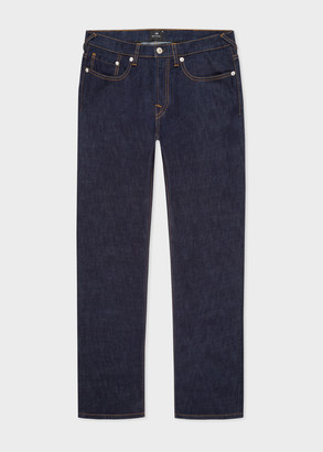 Paul Smith Men's Tapered-Fit Indigo-Rinse 'Crosshatch Stretch' Jeans