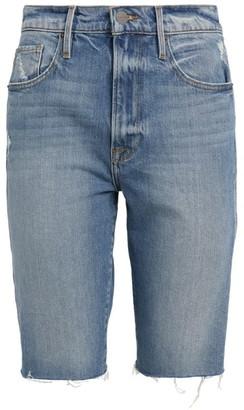 Frame Le Vintage Bermuda Denim Shorts