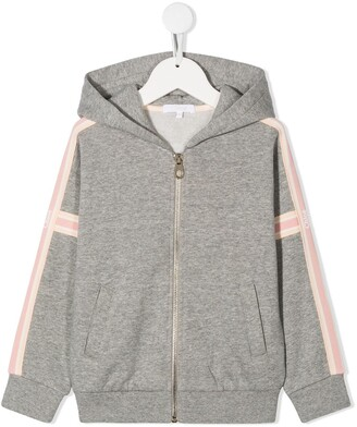 Chloé Kids Stripe-Side Hooded Sweatshirt