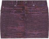 See by Chloé Arizona printed stretch-cotton drill mini skirt