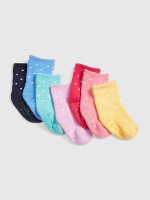 Gap Baby Dot Crew Socks (7-Pack)