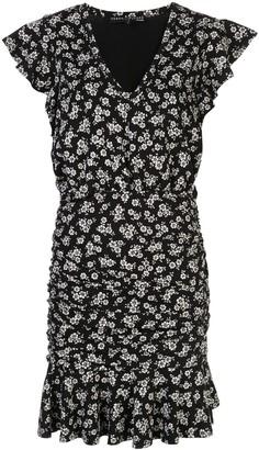 Veronica Beard floral print ruffled dress