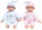 John Lewis Squeezable Baby Twin Dolls