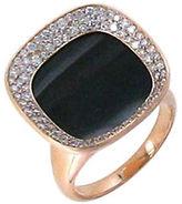 Roberto Coin Caranby Street Diamond, Black Jade & 18K Rose Gold Ring