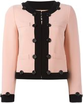 Moschino contrast trim cropped jacket - women - Polyester/Acetate/Triacetate - 40