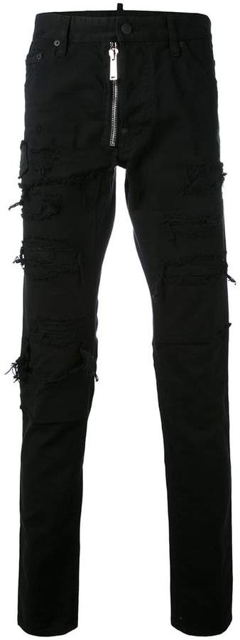 DSQUARED2 denim ripped side jeans