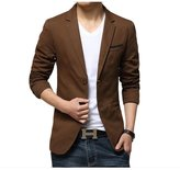 Meiruian Fashion Style Mens Suit Coat Slim Blazer Casual Formal Jacket 2 Buttons
