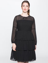 ELOQUII Plus Size Studio Tiered Ruffle Dress