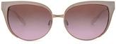 Barton Perreira for FWRD Valerie Sunglasses in White,Metallics.