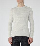 Reiss Reiss Corbit - Fine Ribbed Jumper In Grey