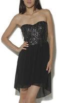 Arden B Drip Chain Sequins Tube Dress