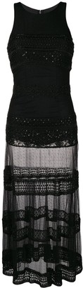 Parlor Sheer Skirt Fitted Dress