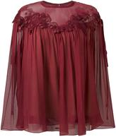 Chloé cherry guipure blouse - women - Silk/Cotton/Polyester - 36