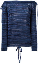 No.21 off shoulder pullover - women - Cotton/Viscose - 40