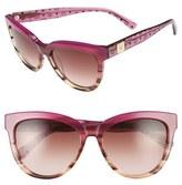 MCM Women's 56Mm Retro Sunglasses - Black Visetos