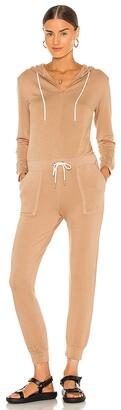 Monrow Supersoft Fleece Hooded Jumpsuit