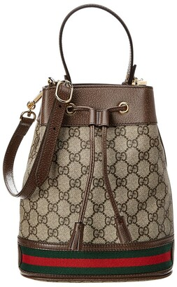 Gucci Ophidia Small Gg Supreme Canvas & Leather Bucket Bag