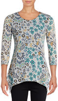 Style And Co. Petite Printed Mesh Tunic