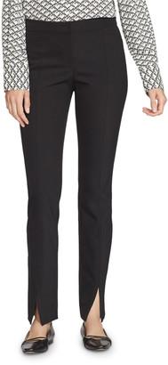 Lafayette 148 New York Waldorf Acclaimed Stretch Slim Pants w/ Front Slit